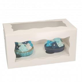 Caixa 2 Cupcakes Branca