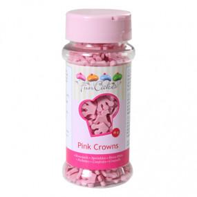 Confetis Coroas Rosa