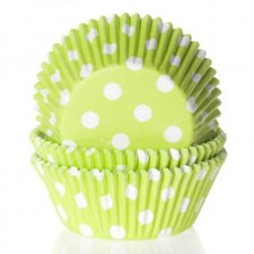 Formas Verdes Bolinhas Brancas - Conj. 50