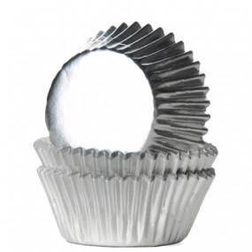 Formas Mini Cupcake Prateadas - Conj. 36