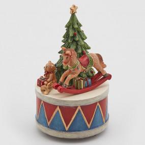 Caixa Musica Natal 15cm