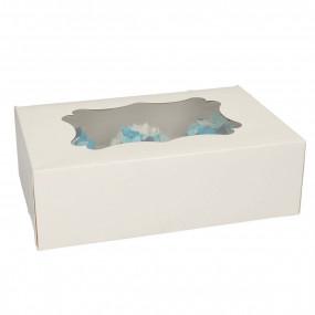 Caixa 6 Cupcakes Branca