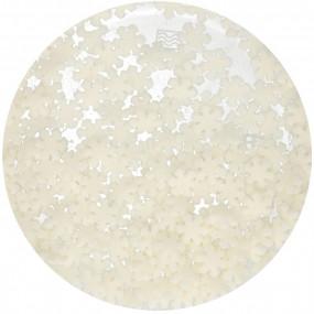 Confetis Flocos Neve Brancos