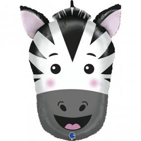 Balão cabeça zebra 74cm