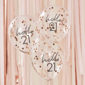 Balões Confetis - 21 Anos