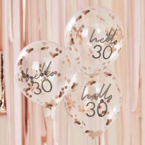Balões Confetis - 30 Anos