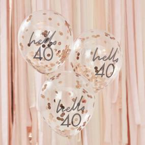 Balões Confetis - 40 Anos