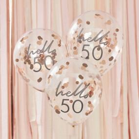 Balões Confetis - 50 Anos