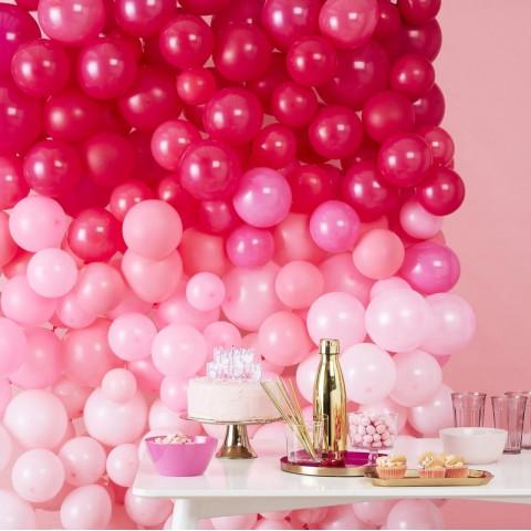 Parede Balões Rosas