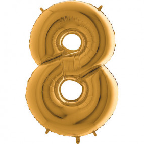 Balão Grande 8 Dourado