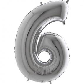 Balão Grande 6 Prata