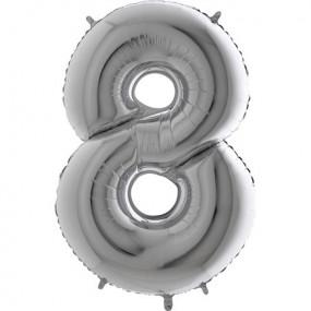 Balão Grande 8 Prata