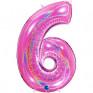 Balão Grande Número GLITTER ROSA