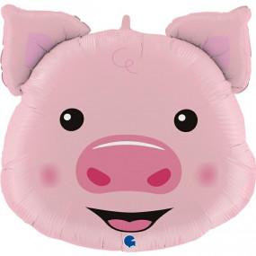 Balão cabeça porco 76cm