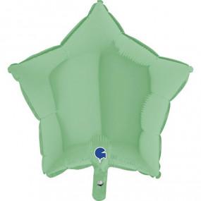Balão Estrela Verde Pastel 46cm