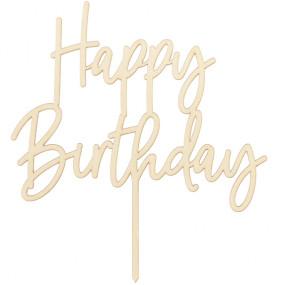 Topo Bolo Happy Birthday Madeira
