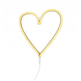 Luz Neon Coração Amarelo