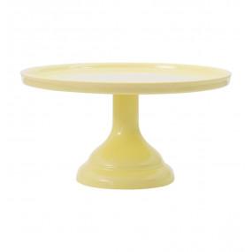 Prato Bolo Amarelo Melamina - 23,5cm