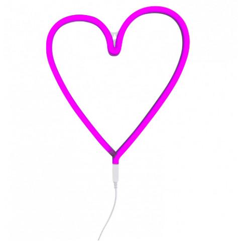 Luz Neon Coração Rosa