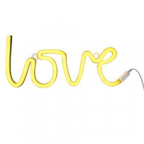 Luz Neon Love Amarelo