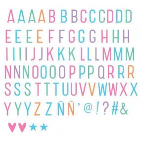 Letras Pastel para Lightbox