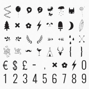 Símbolos e Numeros para Lightbox