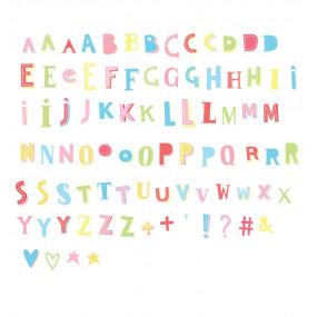 Letras Funky Coloridas Para Lightbox
