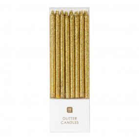 Velas Glitter Dourado