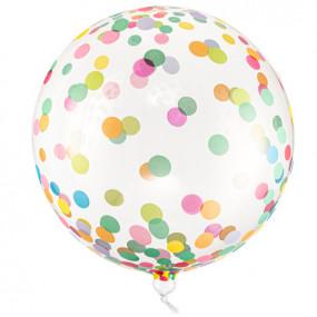 Balão Cristal Confettis Coloridos