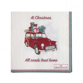 Guardanapos Christmas Car Greengate