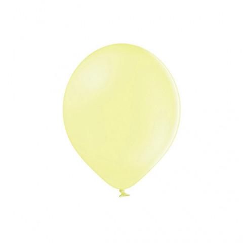 10 Balões Latex Amarelo Pastel 12cm