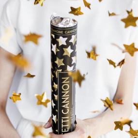 Canhão Confettis Estrelas Douradas - 60cm