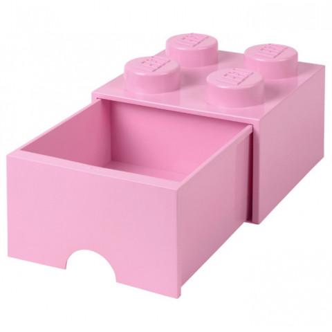 Caixa Lego Gaveta Rosa Claro M