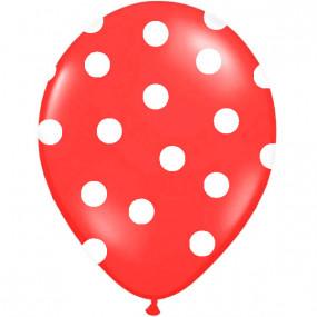 6 Balões Vermelho Bolas