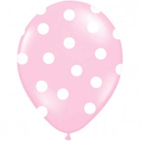 6 Balões Rosa Claro Bolas