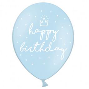 Balões Azul Happy Birthday