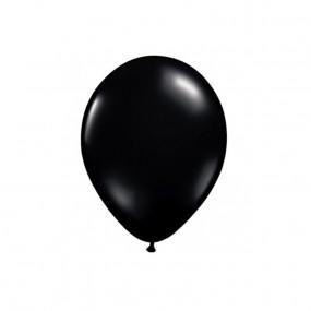 10 Balões Latex Pretos 12CM