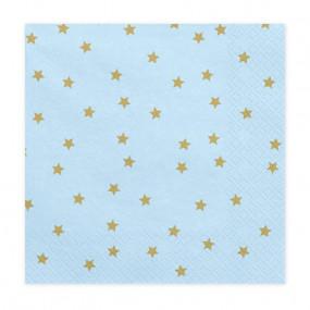 Guardanapos Azul Claro Estrelas