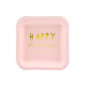 PRATOS HAPPY BIRTHDAY PINK