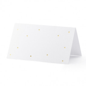 Cartões Marcadores Pintas Ouro