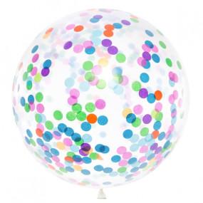 Balão 1m confettis coloridos
