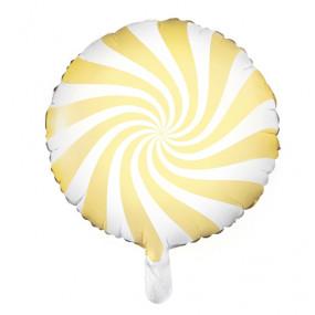 Balão Candy Amarelo Claro 45cm
