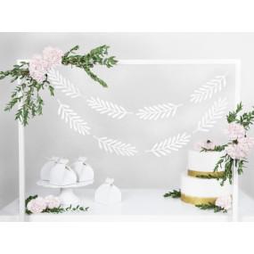 Grinalda Folhas Brancas