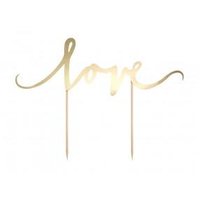 Topo Bolo Love Gold