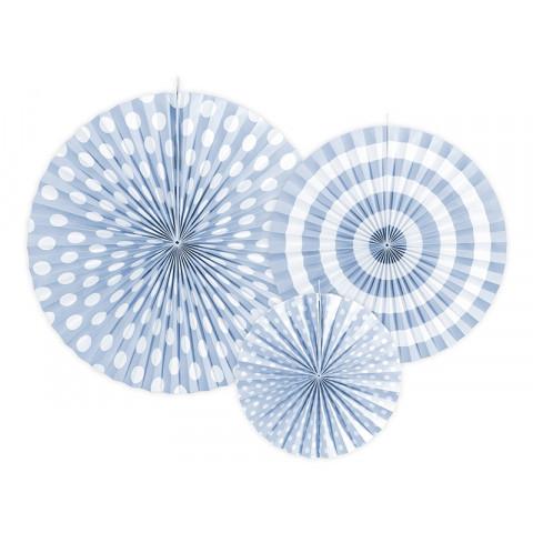 3 Rosetas Bolas Riscas Azuis