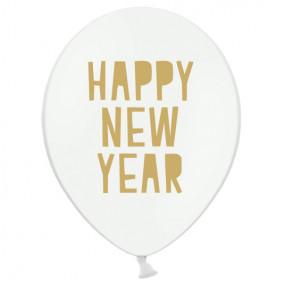 "Balões Latex ""Happy New Year"" - conj. 6"