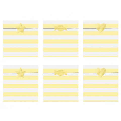 Sacos Papel Riscas Amarelas