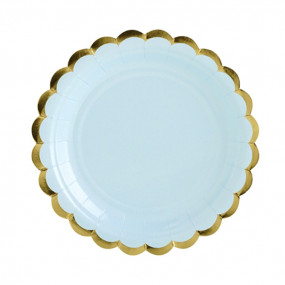 Pratos Azul Gold