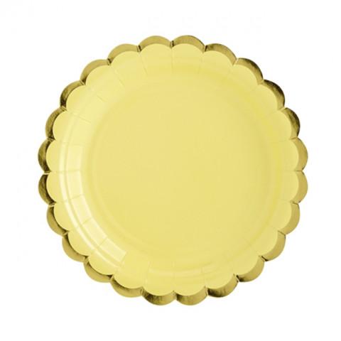 Pratos Amarelo Gold