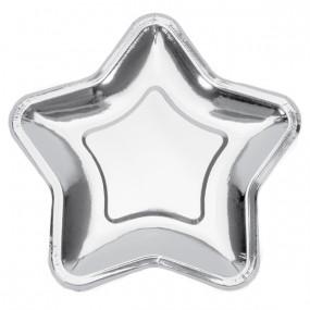 Pratos Estrela Prateada